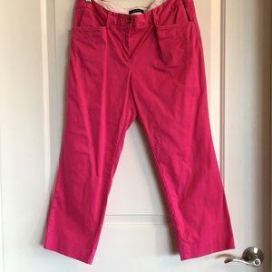 Lands' End hot pink pants